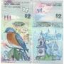 Hermoso Billete Bermuda 2 Dolares Año 2009 Pajaro