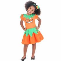 Disfraz Bruja Calabaza Y Vincha Halloween