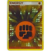 Cartas Pokemon Energia Lucha Golpe Fighting Energy Holo Mint