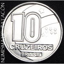 Moneda De Brasil 10 Cruzeiros 1991 - Muy Bueno