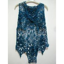 Chaleco Crochet Azul