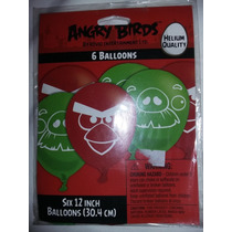 Set De Globos Importados Angry Birds Cotillón Usa Candy Bar