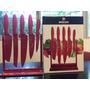 Exhibidor De Cuchillos 5 Piezas Boker Cut Rojo