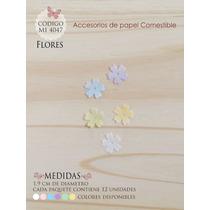Flores En Papel Comestible Mi 4047