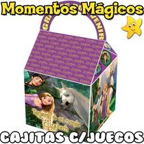 10 Cajitas Rapunzel Enredados Valijita Golosinera + 7 Juegos