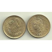 Moneda 20 Centavos Año 1976 Sin Circular