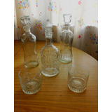 Juego De Botellas De Licor + Vasos De Whisky