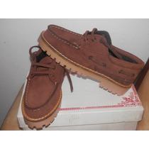 Zapatos Leñadores De Cuero Nobuk Varios Talles Y Colores