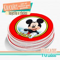 Mickey - Círculo Multiuso Para Imprimir