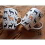 Tazas/mugs Super De Moda!! Estampa Alces-se Vende El Par!!!