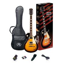 Guitarra Sx Les Paul + Funda Puas Afinador Correa Cable Se3