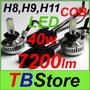 Kit H8 H9 H11 Led Cob 40w Como 4 Xenon-6000k 7200lm - X Par