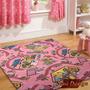 Carpeta Alfombra Calles Y Casa Barbie 140 X 200 Cm Fundasoul