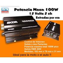 Amplificador De Audio Moon Dos Canales 100w Soporta 4 Parl.