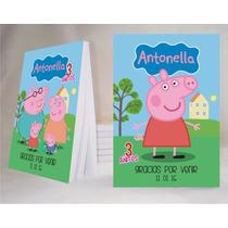 Peppa Pig Souvenir Anotador Personalizado X32!!!