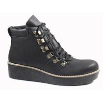 Borcego Mujer Zapato Hebilla Invierno Cordon Alpinos 8070