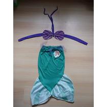 Vestido Disfraz Nena Princesa La Sirenita Usado T6