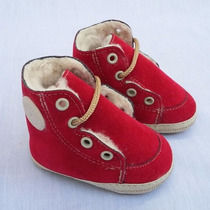 Zapato Para Bebé Gorditoo - Botita De Gamuza Y Corderito