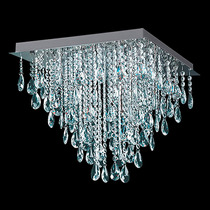 Plafon De Techo Moderno Con Caireles De Cristal 4 Luces Deco