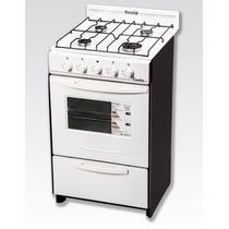 Cocina Escorial Candor 50cm Blanca Gn 4 Hornallas C/valv Seg