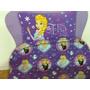 Acolchado Infantil Plaza 1 1/2 Frozen Violeta Disney Piñata