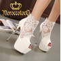 Botinetas Stilettos Encaje Zapatos Importadas Art.5005