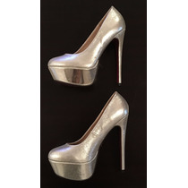 Zapatos Fiesta Mujer Stiletto Taco Fino 39 Levhe Importados