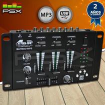 Consola Mezcaldora Mixer Gbr Bat 1900 Mp3 Usb Gtía 2 Años!
