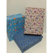 Cajas Artesanales De Carton Forradas En Tela