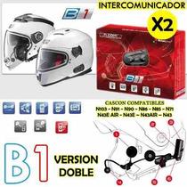 Intercomunicador Nolan B1 Casco N-com X2 En Freeway Motos!!