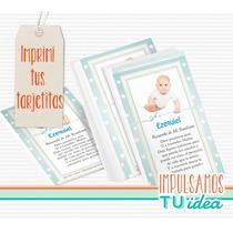 Bautismo Varón - Estampita Para Imprimir Con Foto
