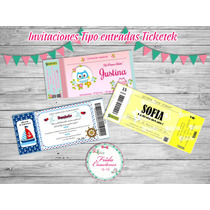 20 Invitaciones Ticketek Cumpleaños Infantiles 15 18 Años