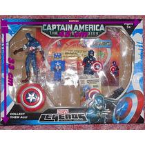 Capitan America Set X 4¡¡¡ Unico En Todo Mercado Libre!!!