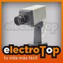 Camara De Seguridad Falsa Con Detector De Movimiento Led Tv