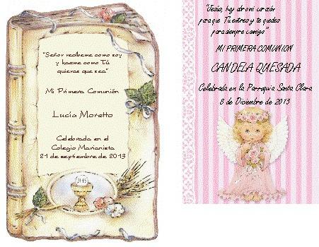 Invitaciones para bautizo de Camila de D.F | Diseñamos