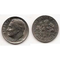 Moneda Estados Unidos De One Dime 10 Centavos Año 1978