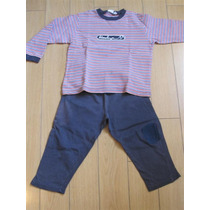 Pijama Invierno Prenatal Pantalon Y Remera Tono Azul T:4 A