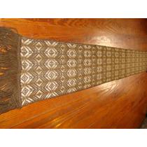 Bufanda De Llama Tejida C/ Dibujos 1.73x.o,24 C/ Flecos