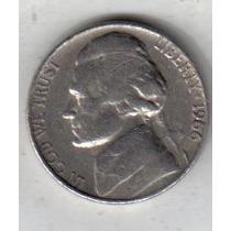 Estados Unidos Moneda De 5 Cents Año 1966 !!!