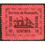 Venezuela Antiguo Sello Usado X 10c. Barco A Vapor Año 1903