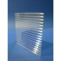 Policarbonato Alveolar De 4 Mm Placa De 1,05x2,90mts.cristal