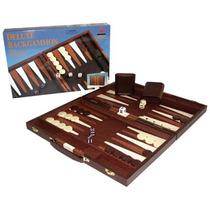 Juego Backgammon Maletin Cuero Valija Regalo Dia Padre Papa