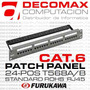 Patch Panel Furukawa 24-pos Cat6 Gigalan Stnd Fact-a Z.norte