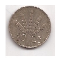 Uruguay Moneda De Plata 20 Centesimos Año 1942 3 Gramos