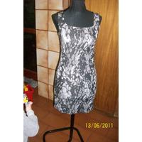 Vestido Negro Gris. Talle 2 - Medium. Tela Lycra (marca Orb)