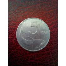 Moneda De 5 Liras Italianas 1967
