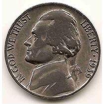 Moneda Estados Unidos 5 Cent.five Cents Año1939 Muy Escasa