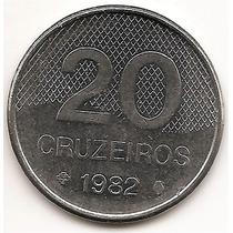 Brasil Moneda De 20 Cruzeiros Del Año 1982 Km#593.1 Acero