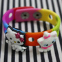Pulsera Multicolor De Silicona Hello Kitty Y Gatita
