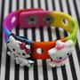 Pulsera Multicolor De Silicona Hello Kitty Y Gatita